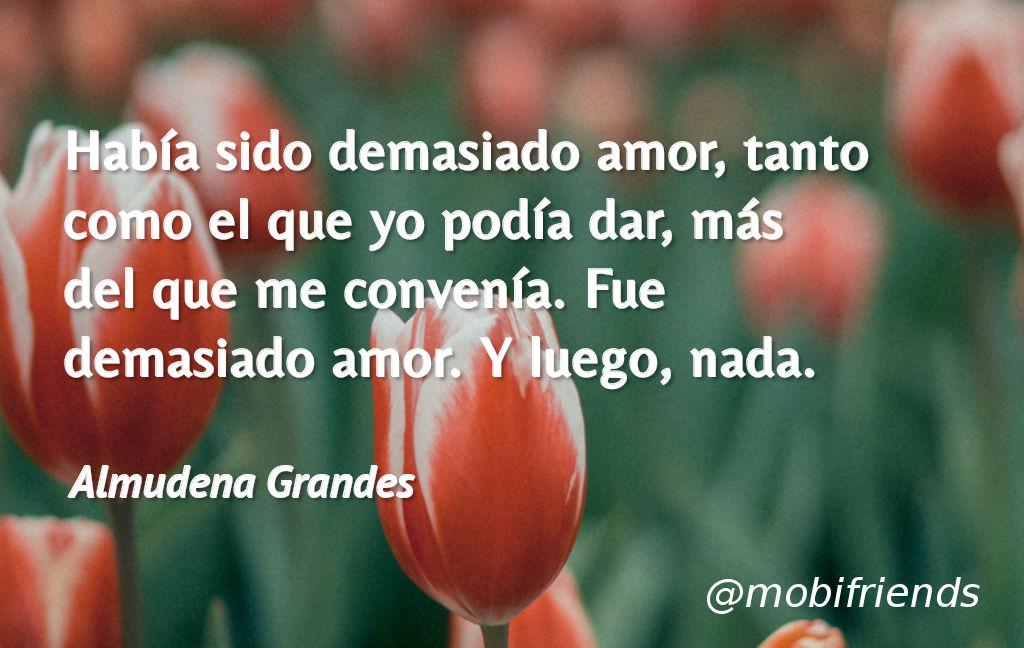 Frases De Amor De Almudena Grandes Mobifriends