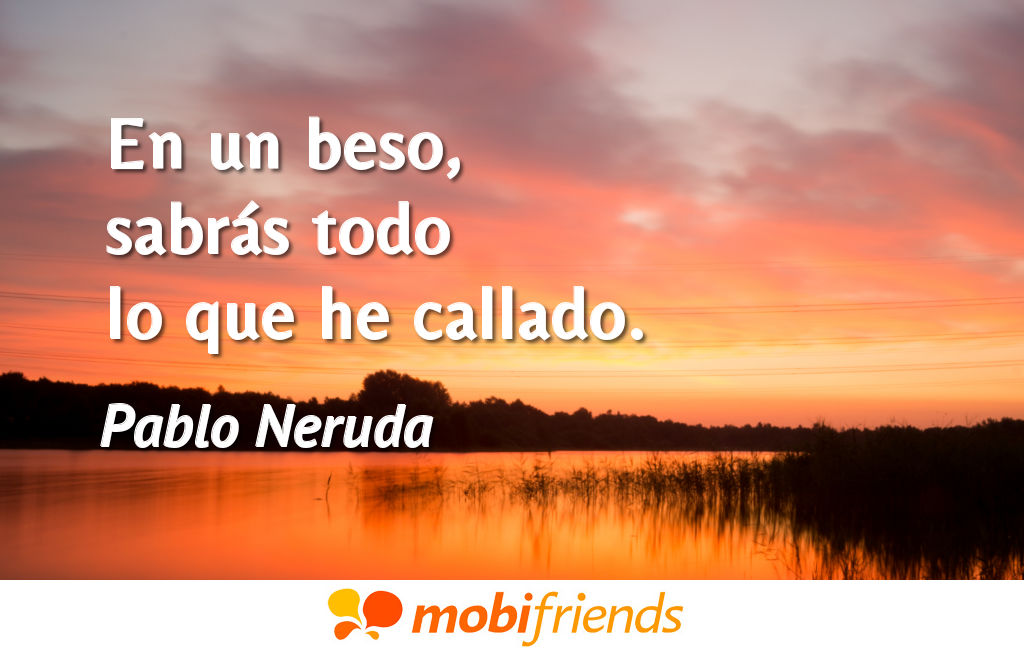 Frases amor cortas beso