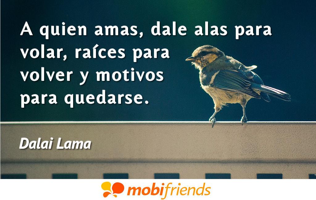 A Quien Amas Dale Alas Para Volar Raíces Frases De Amor