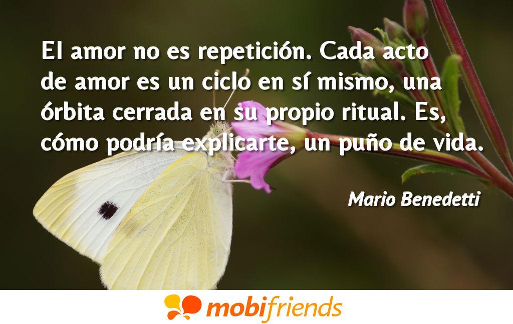 El Amor No Es Repeticion Cada Acto De Amor Frases De Amor