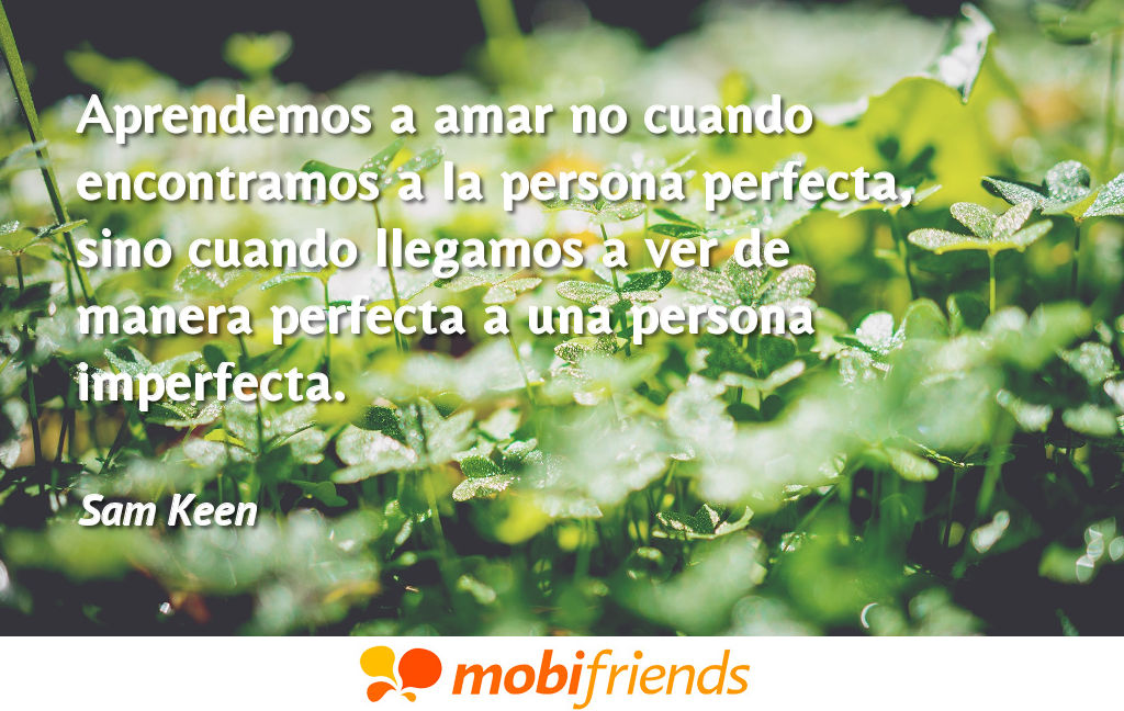 Frases De Amor Sobre Perfeccion Mobifriends