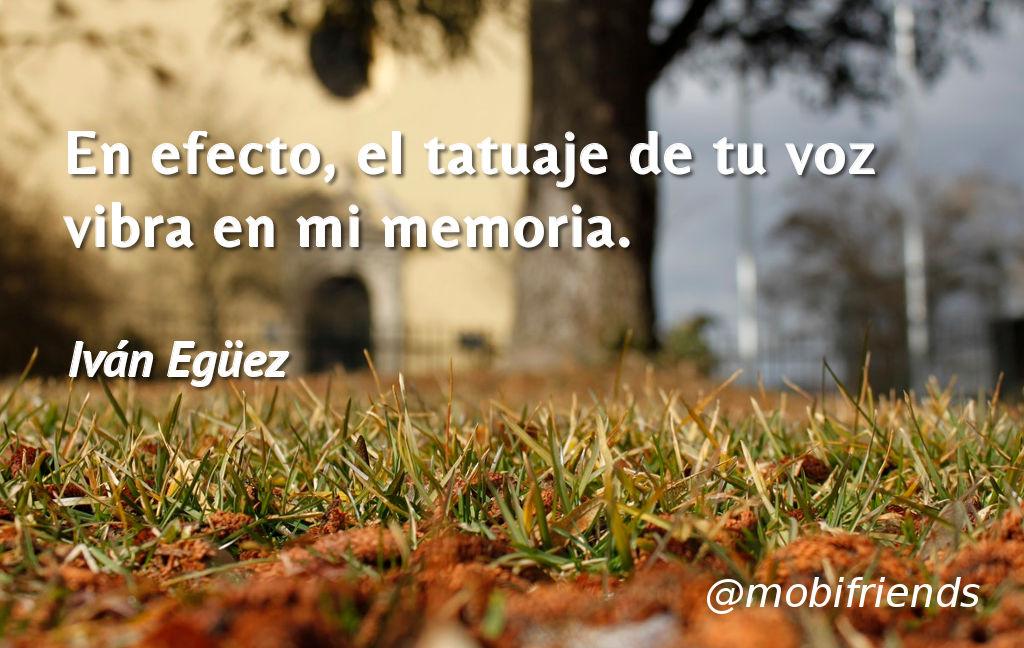 Voz Tuya Vibrar Memoria Amor